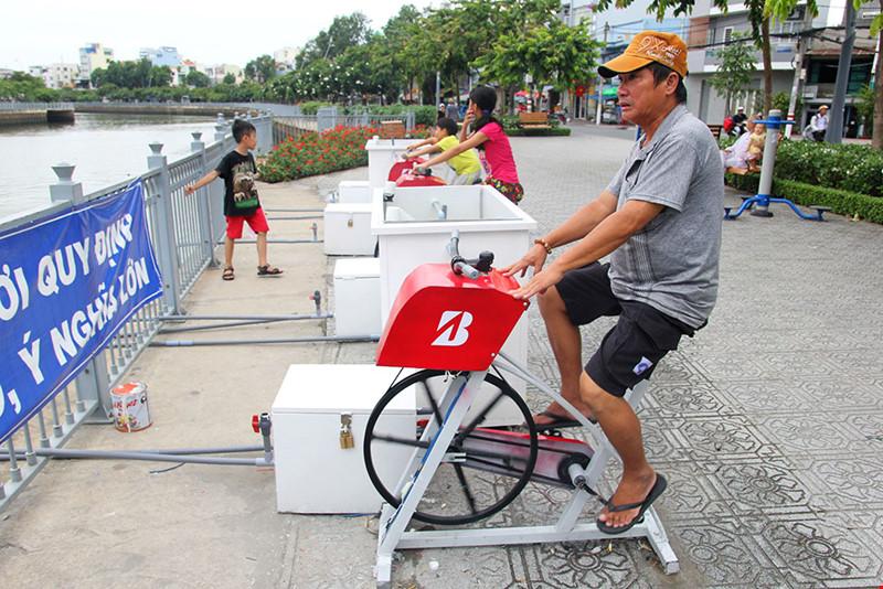 Xe đạp lọc nước