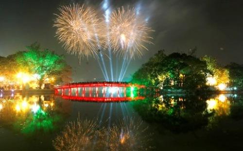 Bắn pháo hoa mừng Quốc khánh 2 tháng 9